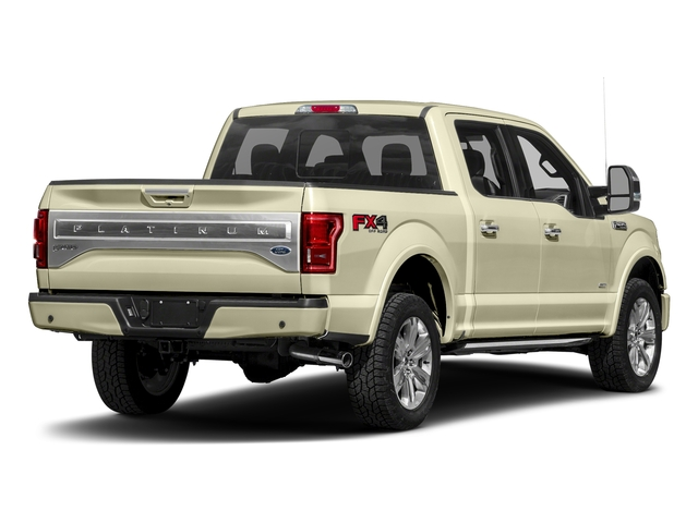 White Gold 2017 Ford F-150 Pictures F-150 Crew Cab Platinum 2WD photos rear view