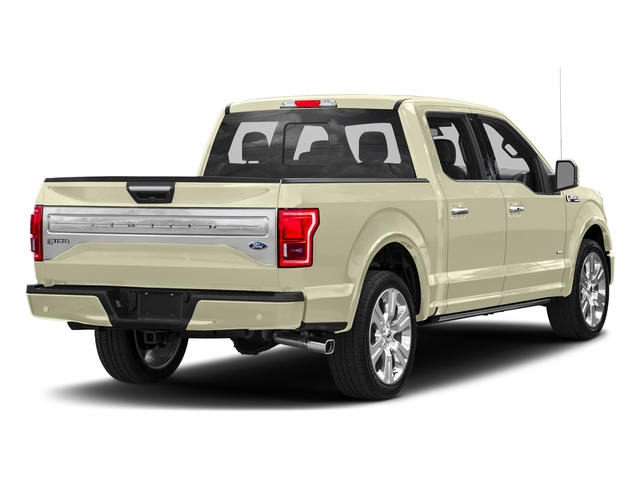 White Gold 2017 Ford F-150 Pictures F-150 Crew Cab Limited EcoBoost 2WD photos rear view