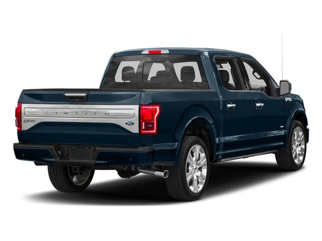 Blue Jeans Metallic 2017 Ford F-150 Pictures F-150 Crew Cab Limited EcoBoost 2WD photos rear view