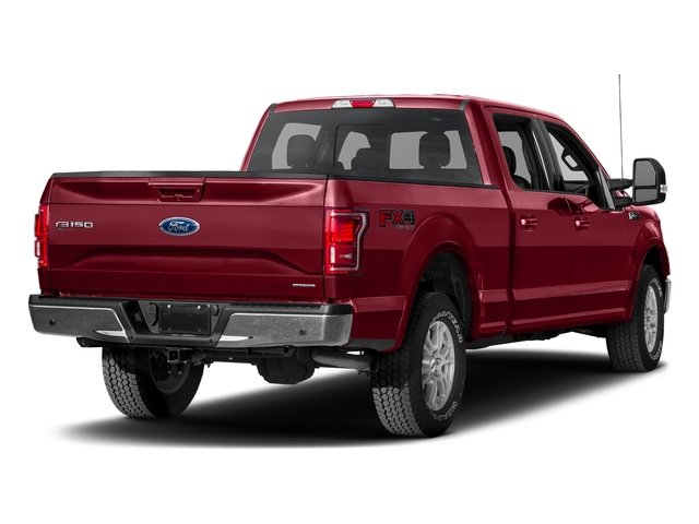 Ruby Red Metallic Tinted Clearcoat 2017 Ford F-150 Pictures F-150 Crew Cab Lariat 4WD photos rear view