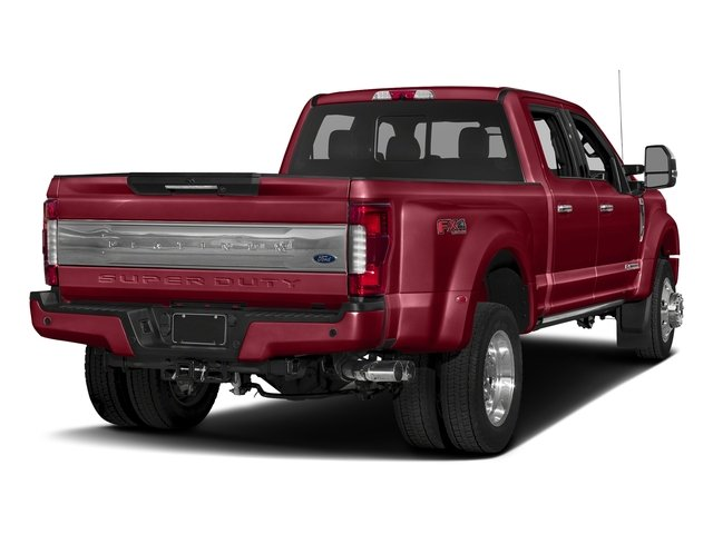 Ruby Red Metallic Tinted Clearcoat 2017 Ford Super Duty F-450 DRW Pictures Super Duty F-450 DRW Crew Cab Platinum 4WD T-Diesel photos rear view