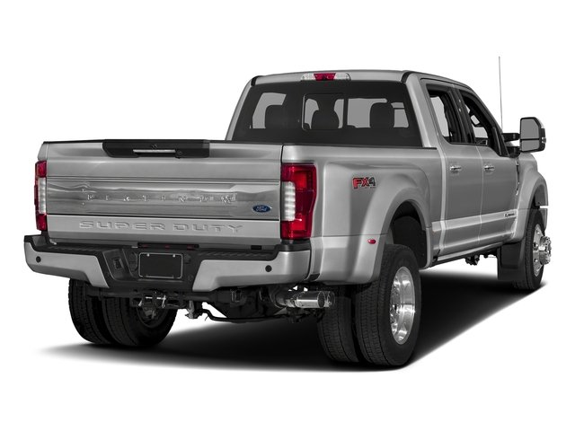 Ingot Silver Metallic 2017 Ford Super Duty F-450 DRW Pictures Super Duty F-450 DRW Crew Cab Platinum 4WD T-Diesel photos rear view