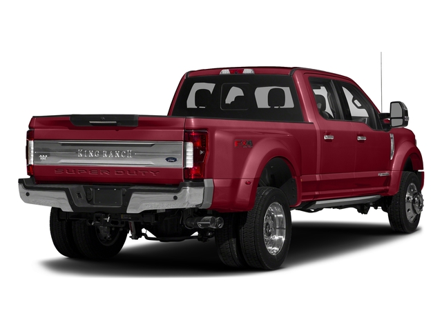 Ruby Red Metallic Tinted Clearcoat 2017 Ford Super Duty F-450 DRW Pictures Super Duty F-450 DRW Crew Cab King Ranch 4WD T-Diesel photos rear view