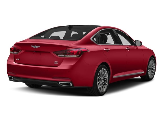 Sevilla Red 2017 Genesis G80 Pictures G80 3.8L AWD photos rear view