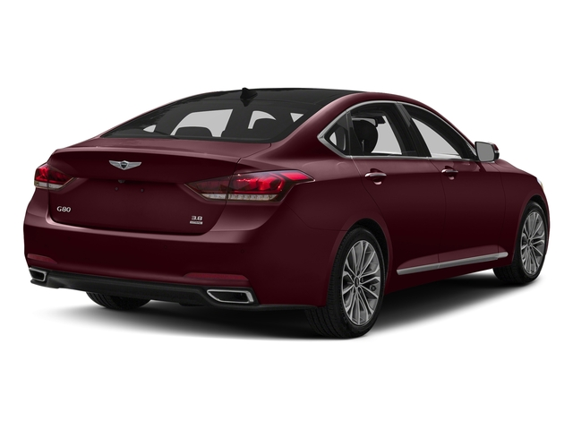 Pamplona Red 2017 Genesis G80 Pictures G80 3.8L AWD photos rear view