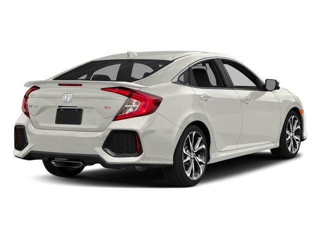 White Orchid Pearl 2017 Honda Civic Sedan Pictures Si Manual Photos Rear View