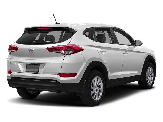 Dazzling White 2017 Hyundai Tucson Pictures Tucson SE AWD photos rear view