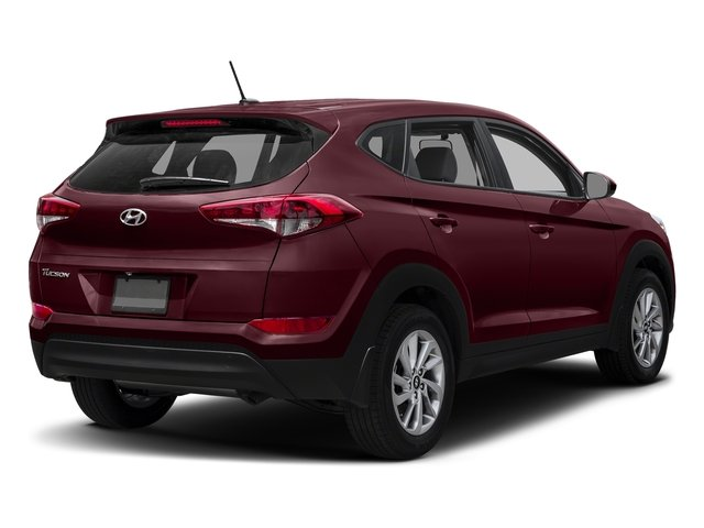Ruby Wine 2017 Hyundai Tucson Pictures Tucson SE AWD photos rear view