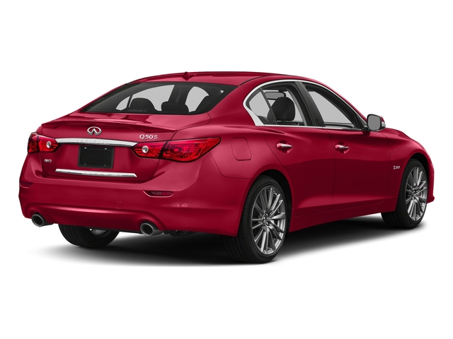 Dynamic Sunstone Red 2017 INFINITI Q50 Pictures Q50 Sedan 4D 3.0T Red Sport V6 Turbo photos rear view