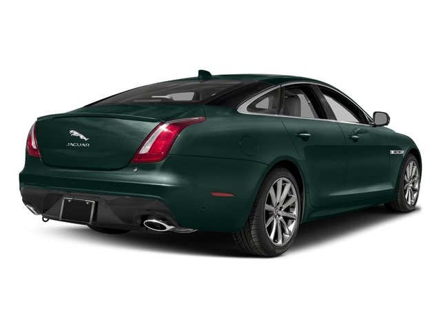 British Racing Green Metallic 2017 Jaguar XJ Pictures XJ Sedan 4D V8 Supercharged photos rear view