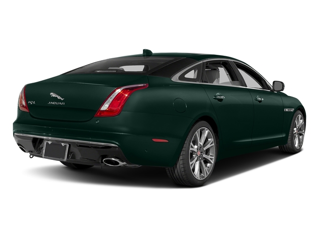British Racing Green Metallic 2017 Jaguar XJ Pictures XJ XJL Supercharged RWD photos rear view