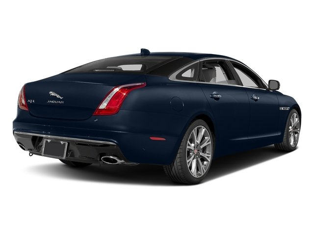 Dark Sapphire Metallic 2017 Jaguar XJ Pictures XJ XJL Supercharged RWD photos rear view