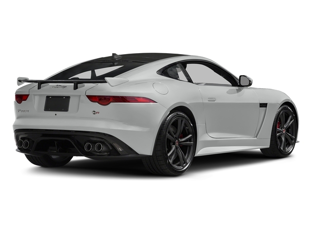 Rhodium Silver Metallic 2017 Jaguar F-TYPE Pictures F-TYPE Coupe Auto SVR AWD photos rear view