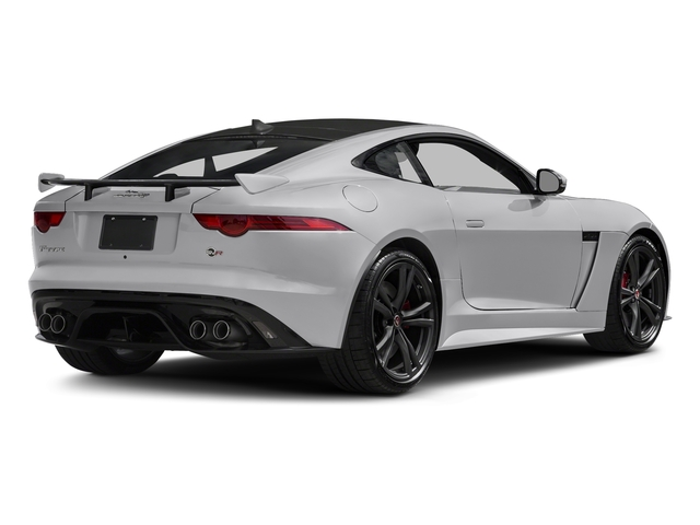 Glacier White Metallic 2017 Jaguar F-TYPE Pictures F-TYPE Coupe Auto SVR AWD photos rear view