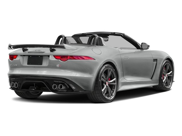 Rhodium Silver Metallic 2017 Jaguar F-TYPE Pictures F-TYPE Convertible 2D SVR AWD V8 photos rear view
