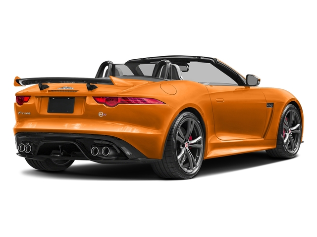 Firesand Metallic 2017 Jaguar F-TYPE Pictures F-TYPE Convertible 2D SVR AWD V8 photos rear view