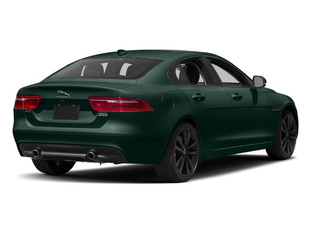 British Racing Green Metallic 2017 Jaguar XE Pictures XE 35t Prestige AWD photos rear view