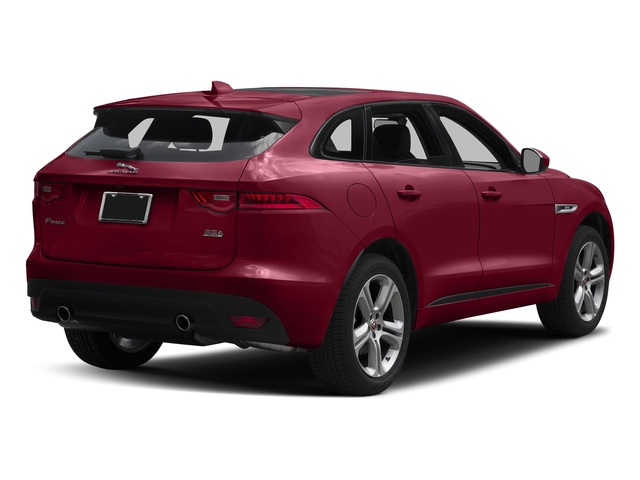 Odyssey Red Metallic 2017 Jaguar F-PACE Pictures F-PACE Utility 4D 35t R-Sport AWD V6 photos rear view