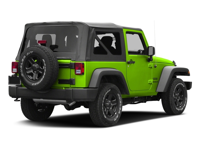 Hypergreen Clearcoat 2017 Jeep Wrangler Pictures Wrangler Sport 4x4 photos rear view