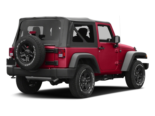 Firecracker Red Clearcoat 2017 Jeep Wrangler Pictures Wrangler Sport 4x4 photos rear view