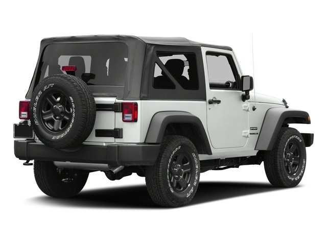 Bright White Clearcoat 2017 Jeep Wrangler Pictures Wrangler Sport 4x4 photos rear view