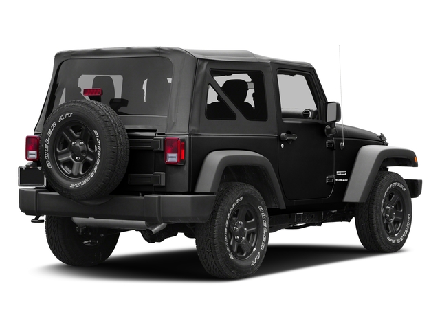 Black Clearcoat 2017 Jeep Wrangler Pictures Wrangler Sport 4x4 photos rear view