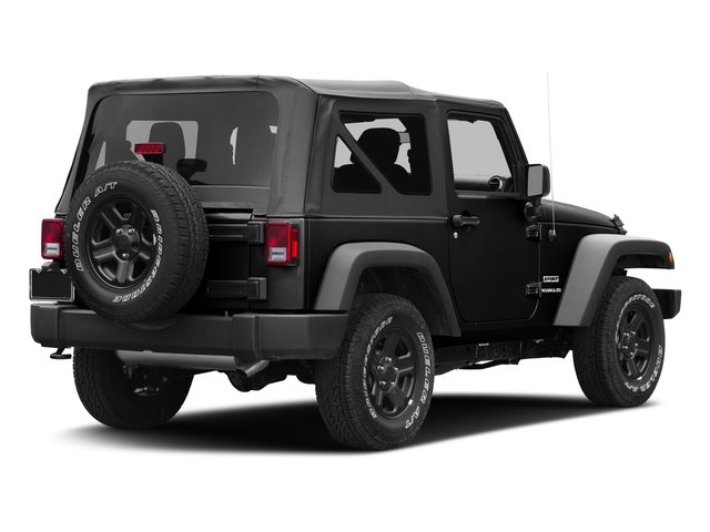 Black Clearcoat 2017 Jeep Wrangler Pictures Wrangler Freedom 4x4 *Ltd Avail* photos rear view