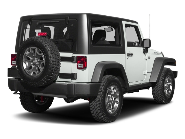 Bright White Clearcoat 2017 Jeep Wrangler Pictures Wrangler Rubicon 4x4 photos rear view