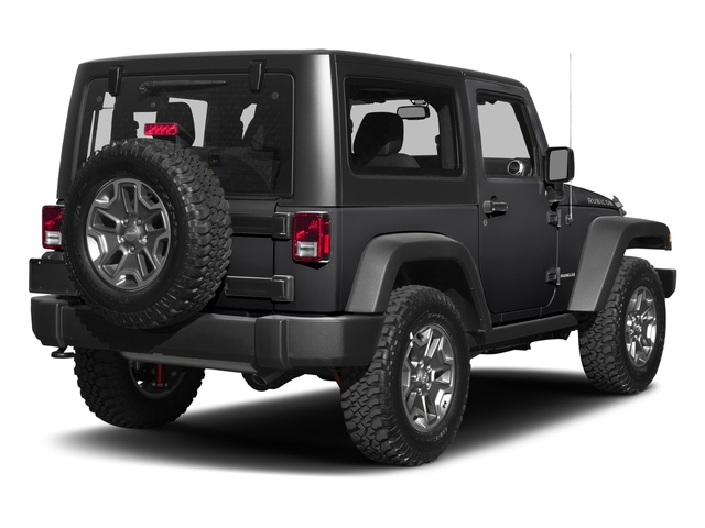 Black Clearcoat 2017 Jeep Wrangler Pictures Wrangler Rubicon 4x4 photos rear view