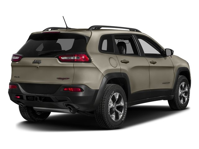 Light Brownstone Pearlcoat 2017 Jeep Cherokee Pictures Cherokee Trailhawk 4x4 *Ltd Avail* photos rear view