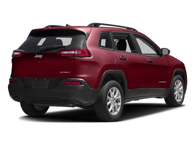 Deep Cherry Red Crystal Pearlcoat 2017 Jeep Cherokee Pictures Cherokee Sport 4x4 photos rear view