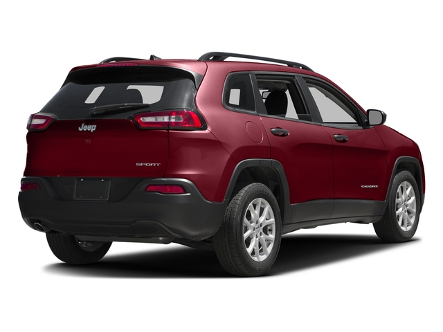 Deep Cherry Red Crystal Pearlcoat 2017 Jeep Cherokee Pictures Cherokee Utility 4D Sport 2WD photos rear view