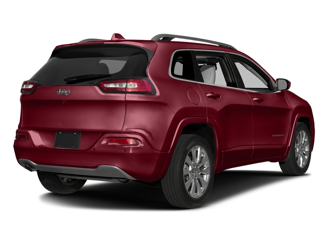 Deep Cherry Red Crystal Pearlcoat 2017 Jeep Cherokee Pictures Cherokee Utility 4D Overland 4WD photos rear view