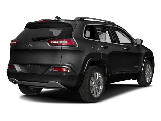 Diamond Black Crystal Pearlcoat 2017 Jeep Cherokee Pictures Cherokee Utility 4D Overland 2WD photos rear view