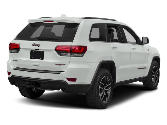 Bright White Clearcoat 2017 Jeep Grand Cherokee Pictures Grand Cherokee Utility 4D Trailhawk 4WD photos rear view