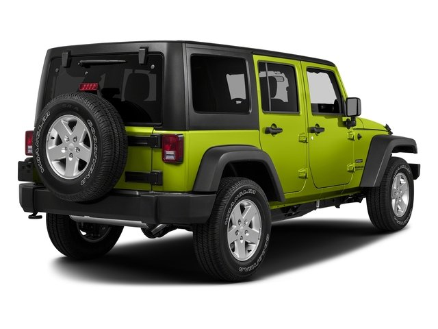 Hypergreen Clearcoat 2017 Jeep Wrangler Unlimited Pictures Wrangler Unlimited Utility 4D Unlimited Sport 4WD V6 photos rear view