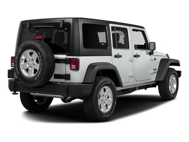 Bright White Clearcoat 2017 Jeep Wrangler Unlimited Pictures Wrangler Unlimited Utility 4D Unlimited Sport 4WD V6 photos rear view