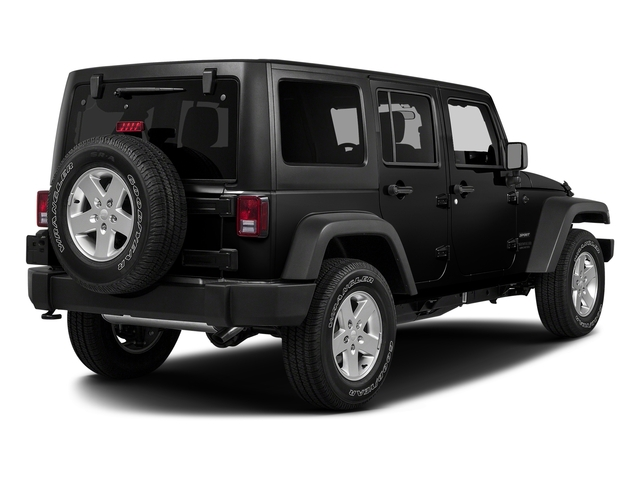 Black Clearcoat 2017 Jeep Wrangler Unlimited Pictures Wrangler Unlimited Utility 4D Unlimited Sport 4WD V6 photos rear view