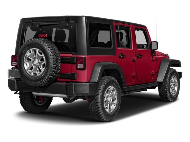 Firecracker Red Clearcoat 2017 Jeep Wrangler Unlimited Pictures Wrangler Unlimited Rubicon Recon 4x4 photos rear view