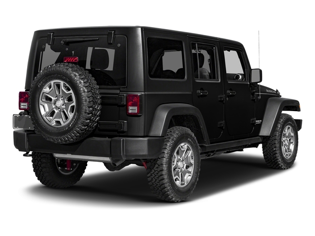 Black Clearcoat 2017 Jeep Wrangler Unlimited Pictures Wrangler Unlimited Rubicon Recon 4x4 photos rear view