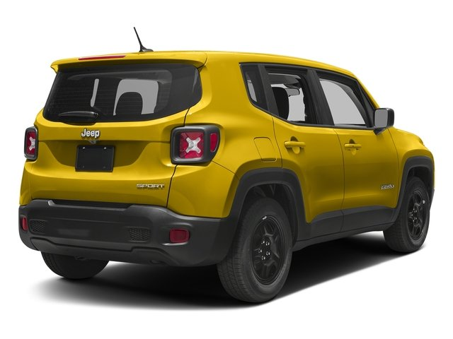 Solar Yellow 2017 Jeep Renegade Pictures Renegade Sport 4x4 photos rear view
