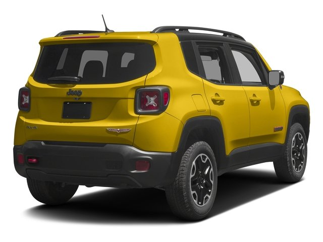 Solar Yellow 2017 Jeep Renegade Pictures Renegade Utility 4D Trailhawk AWD photos rear view