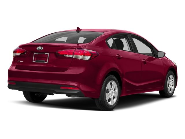 Garnet Red 2017 Kia Forte Pictures Forte LX Manual photos rear view