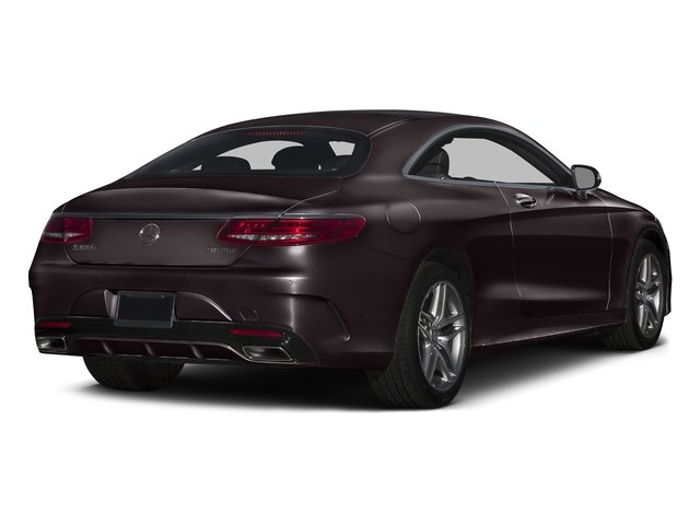 Ruby Black Metallic 2017 Mercedes-Benz S-Class Pictures S-Class S 550 4MATIC Coupe photos rear view