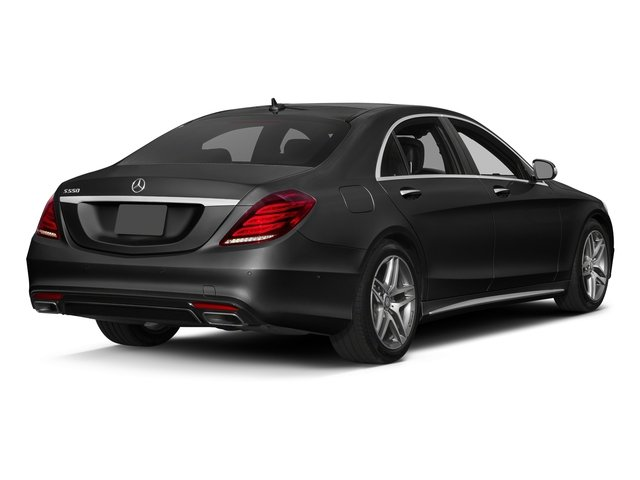 Obsidian Black Metallic 2017 Mercedes-Benz S-Class Pictures S-Class S 550 Sedan photos rear view