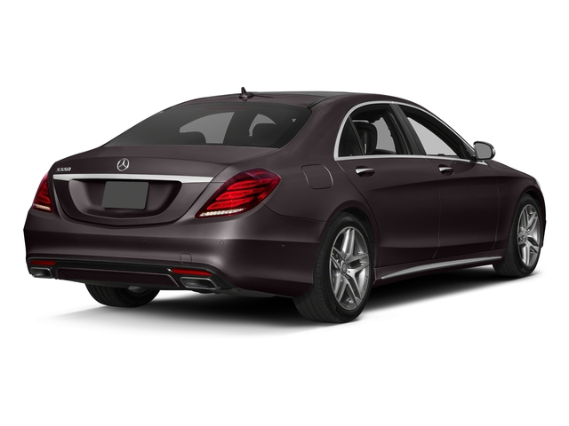 Ruby Black Metallic 2017 Mercedes-Benz S-Class Pictures S-Class S 550 Sedan photos rear view