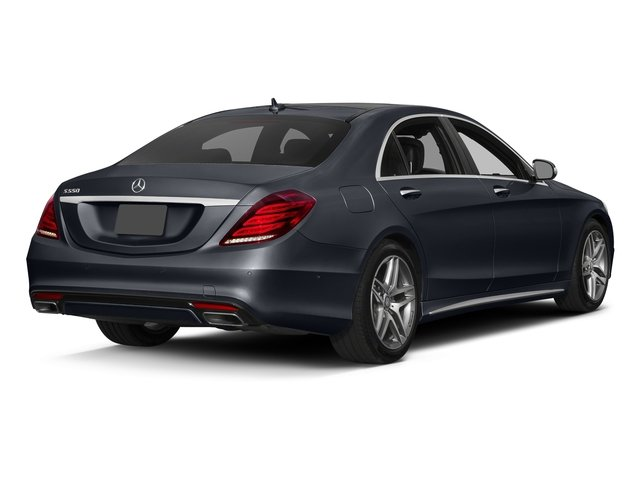 Anthracite Blue Metallic 2017 Mercedes-Benz S-Class Pictures S-Class S 550 Sedan photos rear view