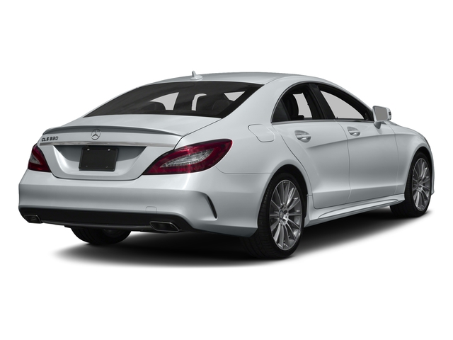 Diamond Silver Metallic 2017 Mercedes-Benz CLS Pictures CLS CLS 550 4MATIC Coupe photos rear view