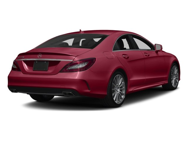 designo Cardinal Red Metallic 2017 Mercedes-Benz CLS Pictures CLS CLS 550 4MATIC Coupe photos rear view
