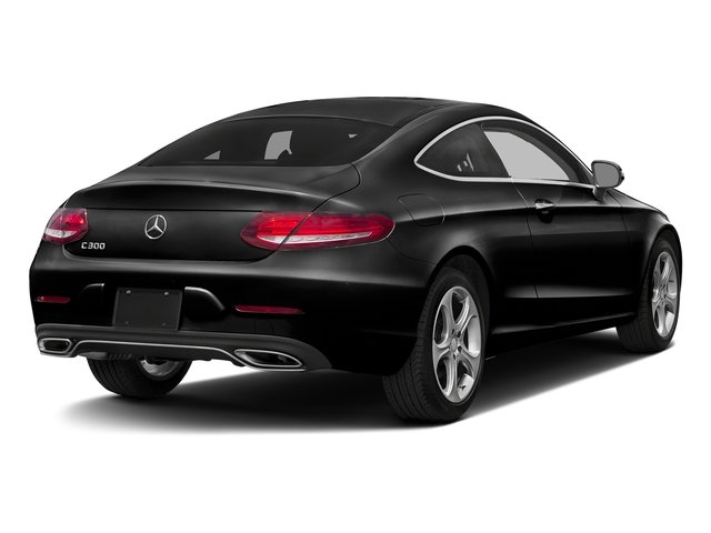 Obsidian Black Metallic 2017 Mercedes-Benz C-Class Pictures C-Class Coupe 2D C300 AWD photos rear view